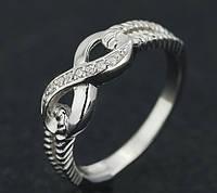 Серебряное женское кольцо Бесконечность