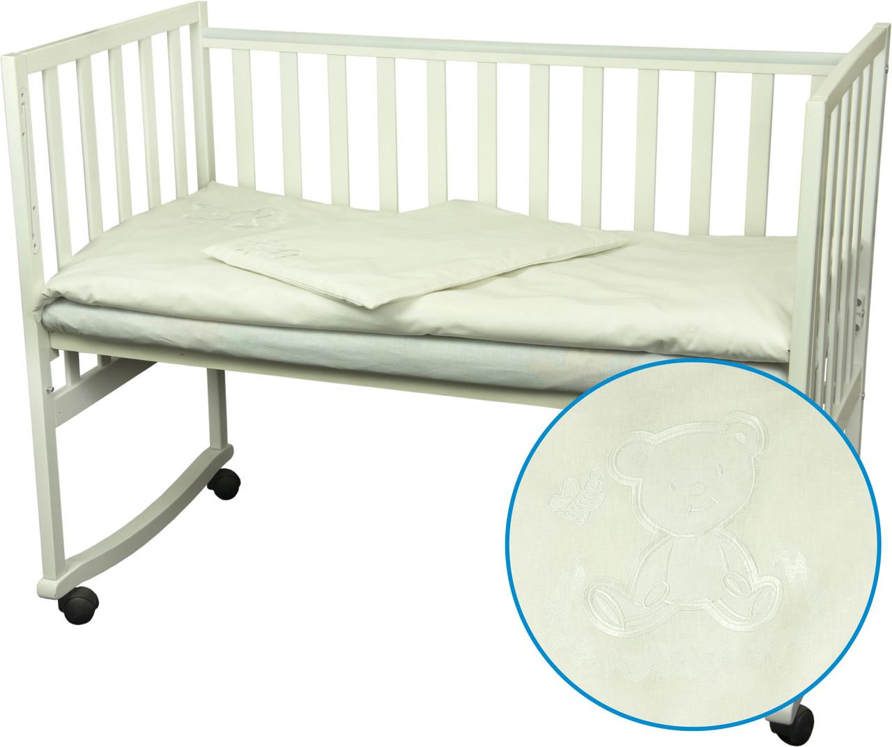 Комплект детского постельного белья «Ведмедик» (Белый), Руно