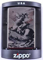 Зажигалка бензиновая Zippo Napoleon №4220-2,качественные зажигалки, оригинальные подарки