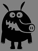 Виниловая наклейка Funny-animals 1