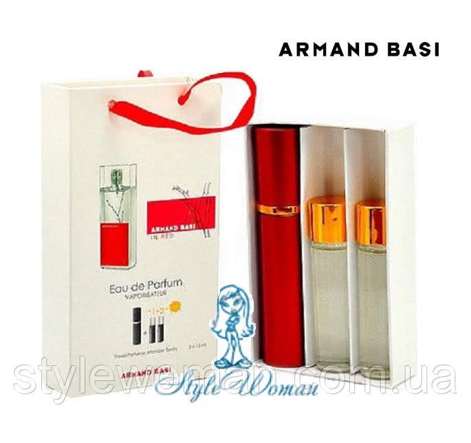 Подарочный набор парфюмерии Armand Basi In Red Арманд Баси ин Ред мини духи 3*15мл Реплика