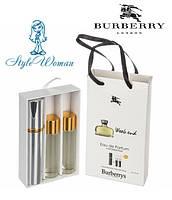 Подарочный набор парфюмерии Burberry Weekend for Women Барбери Викенд фо Вумен с феромонами3*15мл мини духи