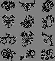 Виниловая наклейка Знаки зодиака 2