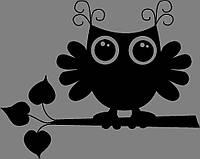 Виниловая наклейка Совёнок, фото 1