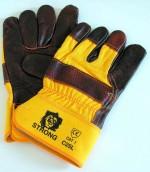 Перчатки комбинированные х/б+ кожа