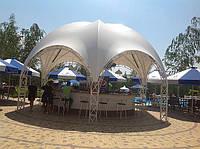 Тентовая конструкция для бара на летней площадке