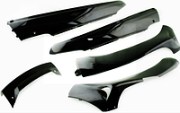 "Пластик VIPER F1, F50 нижний пара (лыжи) (черный) ""KOMATCU"""