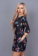 Платье мод. 237-11,размер 40 черное, фото 1