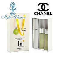 Подарочный набор парфюмерии Chanel Chance eau Fraiche мини духи Шанель Шанс о фреш с ферамонами 3*15мл