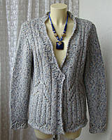 Кофта женская вязаная зимняя теплая бренд EWM Pure Classics р.52 5852