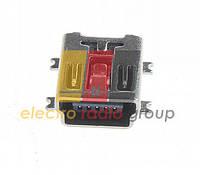 Разъем USB гнездо-117 mini USB 5P, smd на плату