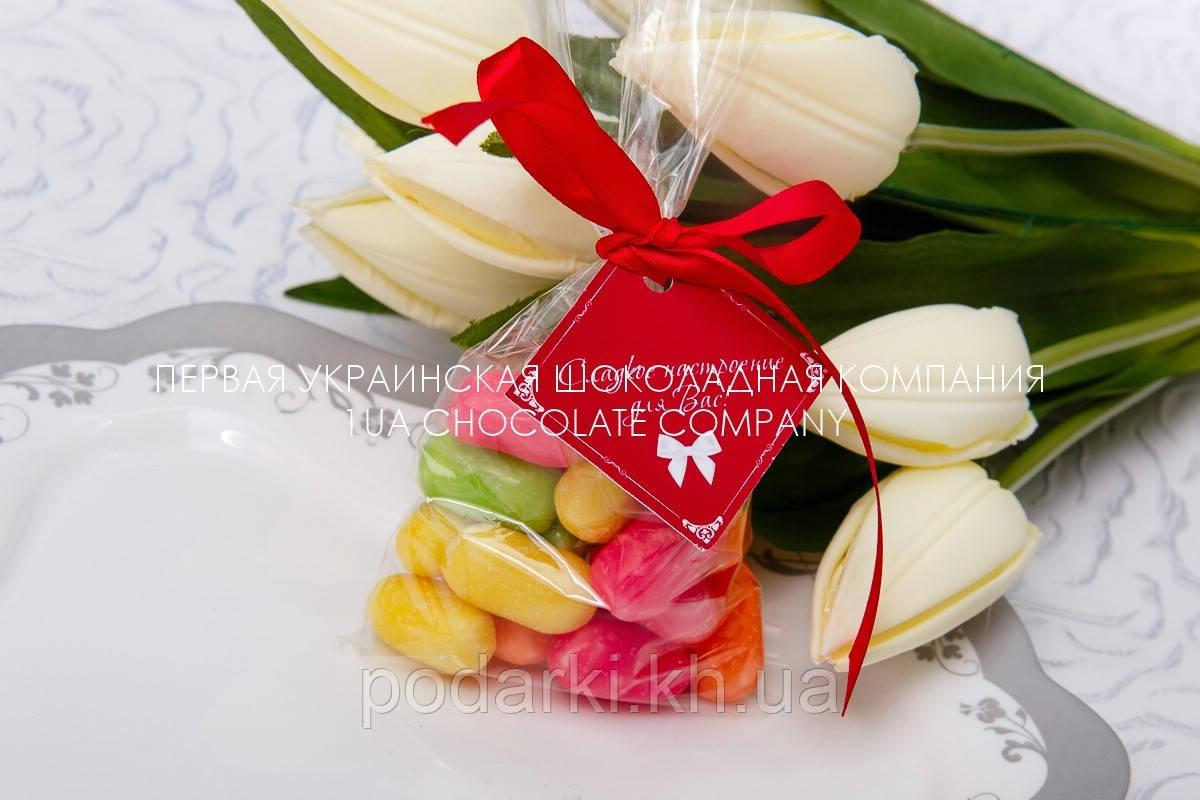 Цветное драже в подарок для гостей