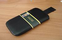 Чехол-кисет с лентой (матовая кожа) Nokia C6-01