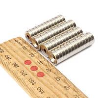 Неодимовый магнит с креплением 10x3 мм, фото 1