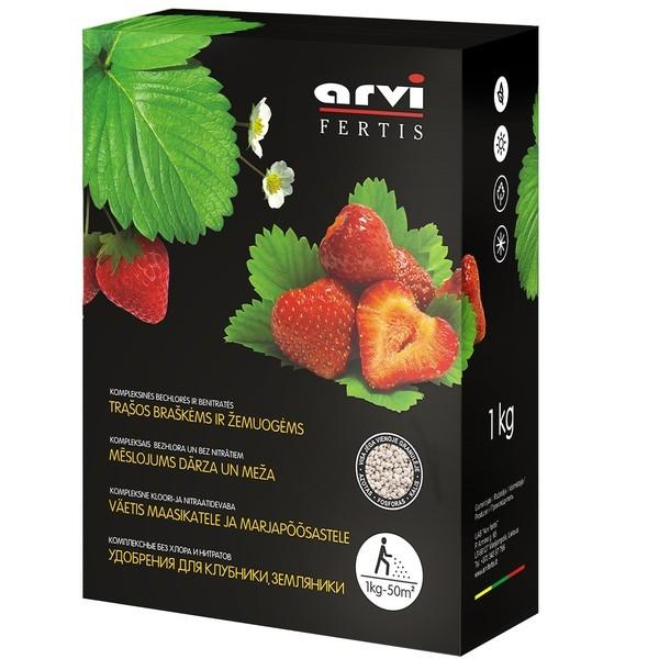 Удобрение Arvi Fertis NPK 11-9-20+МЕ для клубники и земляники, 1кг.