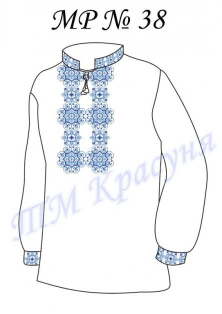 Заготовка мужской сорочки-вышиванки МР-38