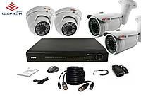 2Мп Комплект видеонаблюдения Division c 8 канальным регистратором и 4 AHD камерами