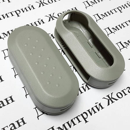 Корпус под ключ Fiat (Фиат) серый, фото 2