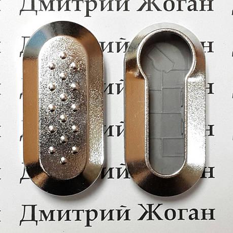 Корпус под ключ Fiat (Фиат) серебристый, фото 2