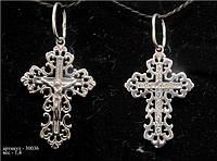 Ажурный крестик из серебра