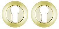 Накладка под цилиндр FUARO ET RM SG/GP-4 матовое золото/золото