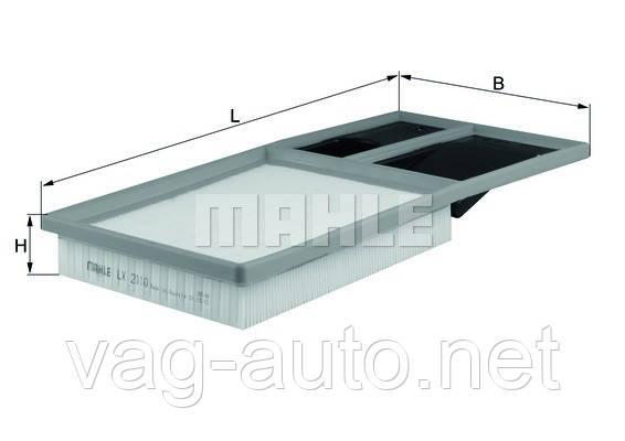 Фільтр повітряний Skoda Fabia New, Roomster 1.4 л, 1.6 л
