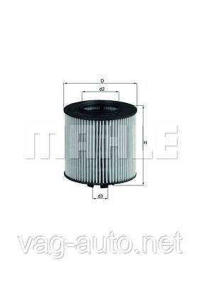 Фільтр масляний Skoda Fabia New, Roomster - 1.6 л