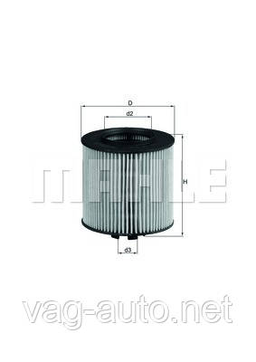 Фильтр масляный Skoda Fabia New, Roomster - 1.6 л