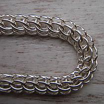 Серебряный браслет, 220мм, 10 грамм, плетение Питон, фото 3