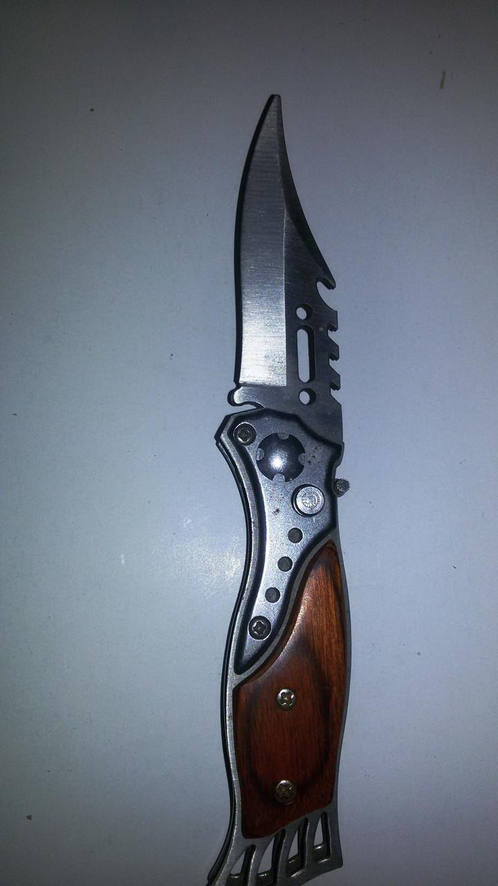 Нож раскладной коричевая ручка