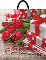 Пакет петля 39*42 Тюльпан