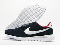 Кроссовки мужские Nike Roshe Daybreak x fragment темно-синие (найк)