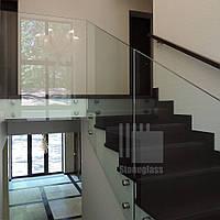 Стеклянные перила  и ограждения для лестниц, балконов и атриумов