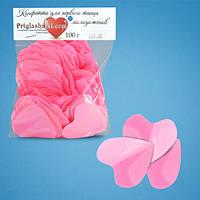 Конфетти сердца розовые (4,5 см, 100 г)