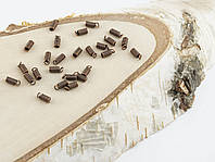 Зажим пружинка медь 7х2мм  (10 штук)(товар при заказе от 500грн)