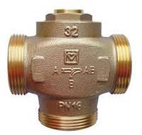 """Трехходовой термосмесительный клапан HERZ-TEPLOMIX DN25 c отключаемым байпасом 1 1/4"""" 55-63°C"""