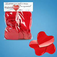 Конфетти сердца красные (4,5 см, 100 г)