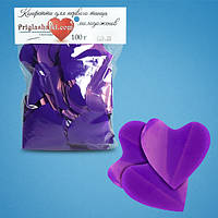 Конфетти сердца фиолетовые (4,5 см, 100 г)