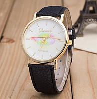 Красивые кварцевые часы Geneva PLATINUM Kiss для девушек.