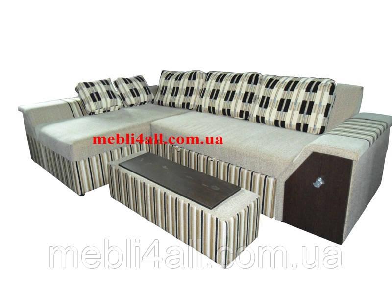 Техас - неординарный угловой диван с барной нишей