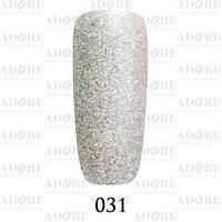 Гель-лак Adore Professional № 031 (серебристый полупрозрачный с серебристыми блестками), 9 мл ADR 031/96