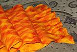 Шарф валяный Оранжевое чудо, фото 2