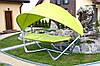 Гамак садовый с козырьком Luxury Hamak, 2 местный