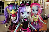 Девушки Эквестрии Пони-фотомодели - Violet Blurr, Photo Finish, Pixel Pizz