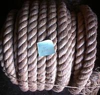 Веревка льнопеньковая, льняная, джутовая, д. 10мм-50мм, фото 1