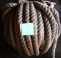 Веревка льнопеньковая, льняная, джутовая, диаметром 10мм-50мм