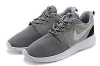 """Кроссовки Nike Roshe Run QS """"Gray Black Heel"""" - """"Серые с Черной пяткой""""  (Копия ААА+), фото 1"""