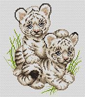 Набор для вышивания нитками Тигрята