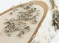 Зажим ракушка темное серебро 8мм (20штук) (товар при заказе от 200 грн)