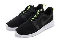 "Кроссовки Nike Roshe Run ""Black/Volt""  (Копия ААА+), фото 1"